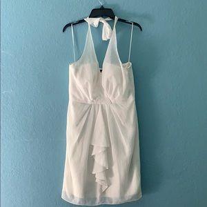 Vince camuto Ivory halter dress size 10